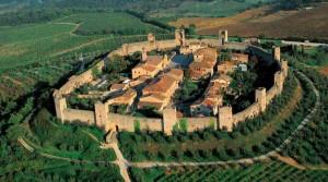 Ciudad medieval de Monteriggioni