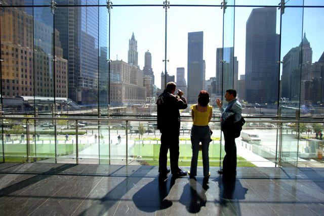 Turistas en la Zona Cero de Nueva York