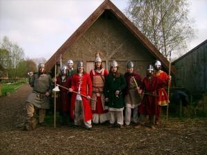 Representación vikinga en el arqueódromo de Jorvik (Inglaterra)