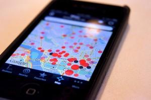 Aplicación de geolocalización en un smatphone