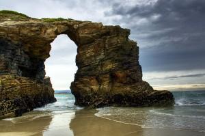 Playa de las Catedrales en las Rías Altas de Galicia