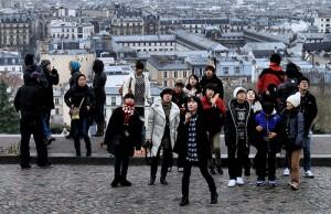 Turistas chinos en Paris