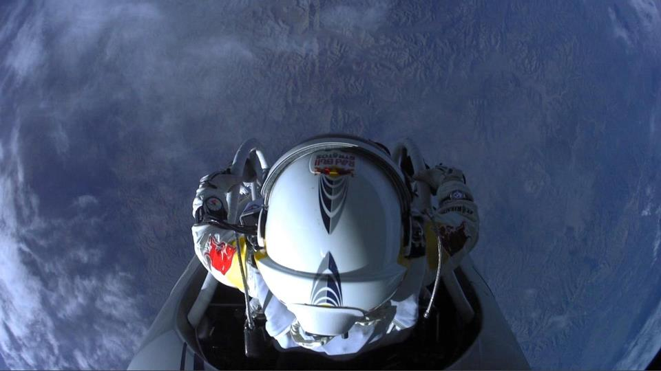red bull stratos fall from the edge
