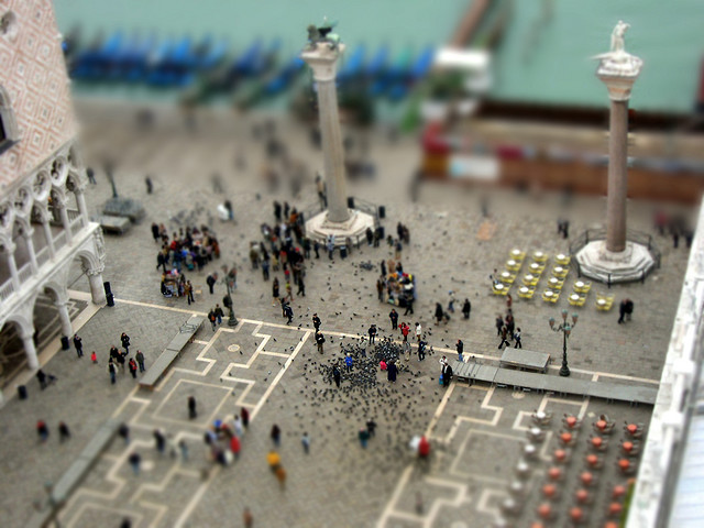 Vista desde el campanario de la plaza de San Marcos (Venecia)