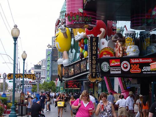 Turistas en The Strip de Las Vegas